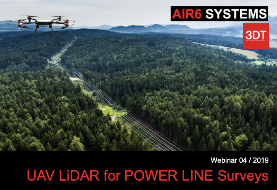 Webinar 04 / 2019: UAV LiDAR for POWER LINE SURVEYS (EN) – 16 April 2019